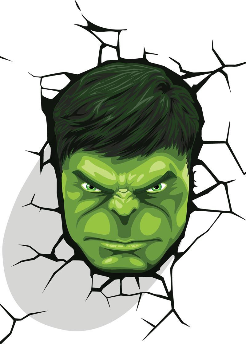 HULK face vector
